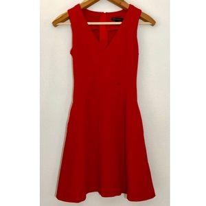 Banana Republic sleeveless red ponte dress 0
